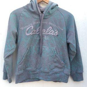 4/$25 Cabela's Boys tie dye Hoodie Spell out